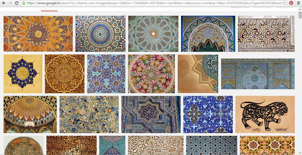 "Google Images: search words ""Islamic art"""