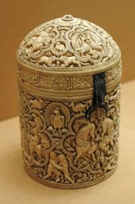 Pyxid from Madinat al-Zahra (Cordoba), Louvre Museum (image from WikiCommons)