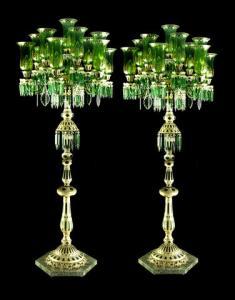 Pair of glass floor lamps for the Indian market | Bohemia, circa 1900 (Bonhams, 7/10 - lot  294) © Bonhams