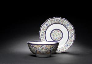 A Cantonese export porcelain bowl and dish, made for Fath 'Ali Shah Qajar | China, 19th Century (Bohnams, 7/11 - lot 201)