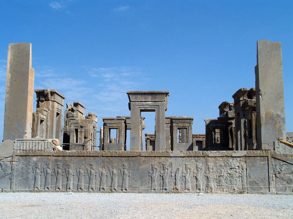 Darius's palace, Persepolis courtesy of WikiCommons