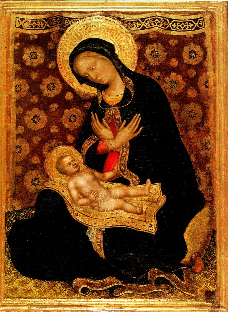 Gentile da Fabriano, Madonna of Humility (Madonna col Bambino), 1415-1416