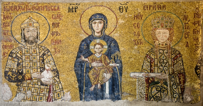The Comnenus mosaics (12th-century) in Hagia Sophia (Istanbul, Turkey) | WikiCommons