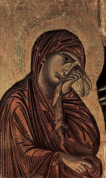 Cimabue, Crucifix, 1265-1268 (detail)