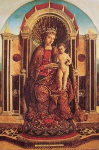 Gentile Bellini's Madonna and Child Enthroned, late 15th century | WikiCommons