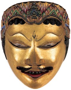 Yogyakarta, Central Java, Indonesia. Dance mask of Kuda Narawangsa, late 19th century | National Museum of Indonesia, Jakarta