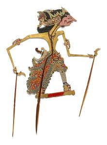 Javanese people - Shadow puppet [wayang gedog], late 19th century | National Gallery of Australia NGA 73.584.9