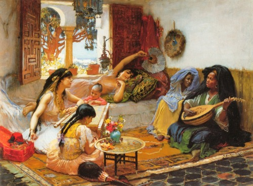 "Frederick Arthur Bridgman, ""Afternoon Algeria"", published on Tumblr"