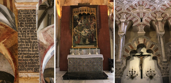 The cultural mix in the Mosque-Cathedral of Cordoba.